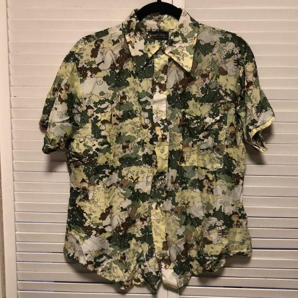 Other - Funky Print Vintage Shirt Mens L